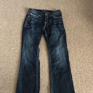 Women's silver jeans 28/33 SUki